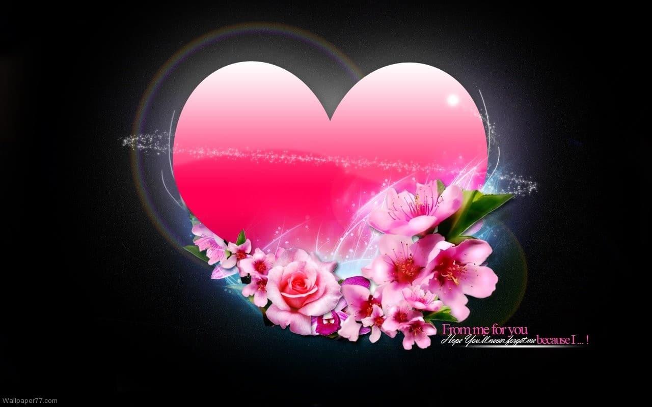 De la mine, pentru tine-cu dragoste, un wallpaper superb de dragoste