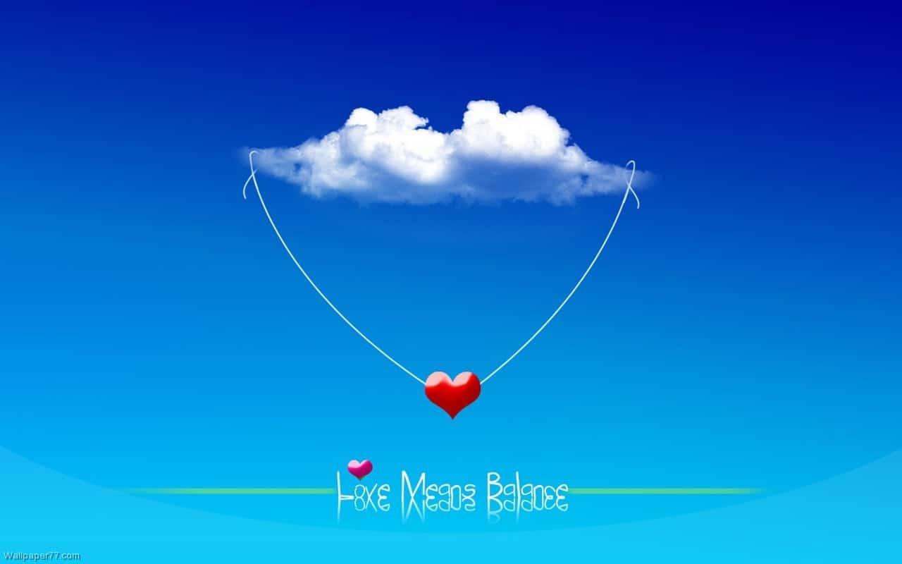 dragostea inseamna balans, wallpaper cu inimi, dragoste online