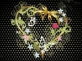 Flori in forma de inima, inima pentru wallpaper, wallpaper de dragoste