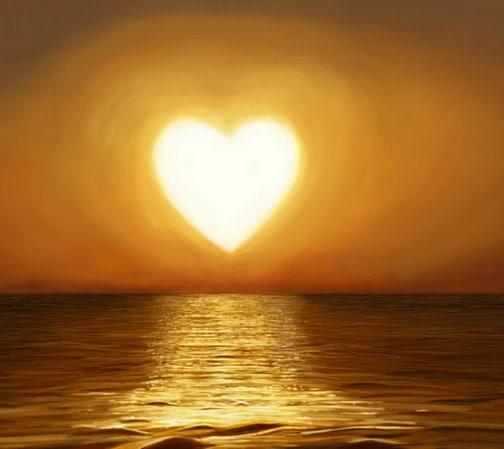soare in forma de inima