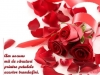 Poza de iubire cu trandafiri