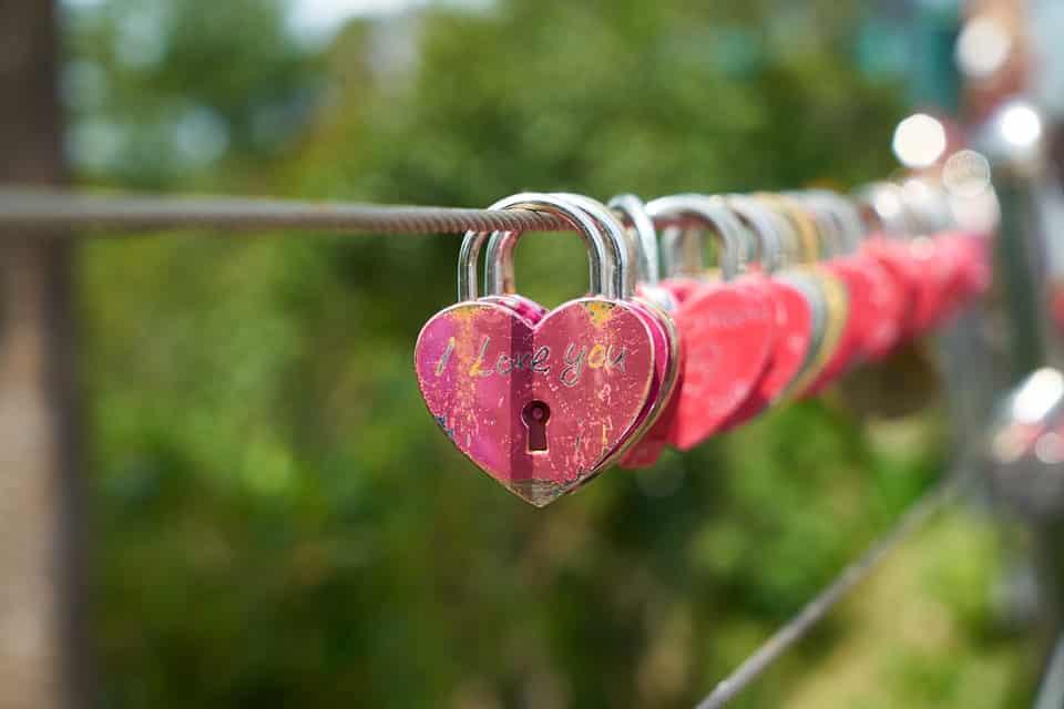 lacat in forma de inima